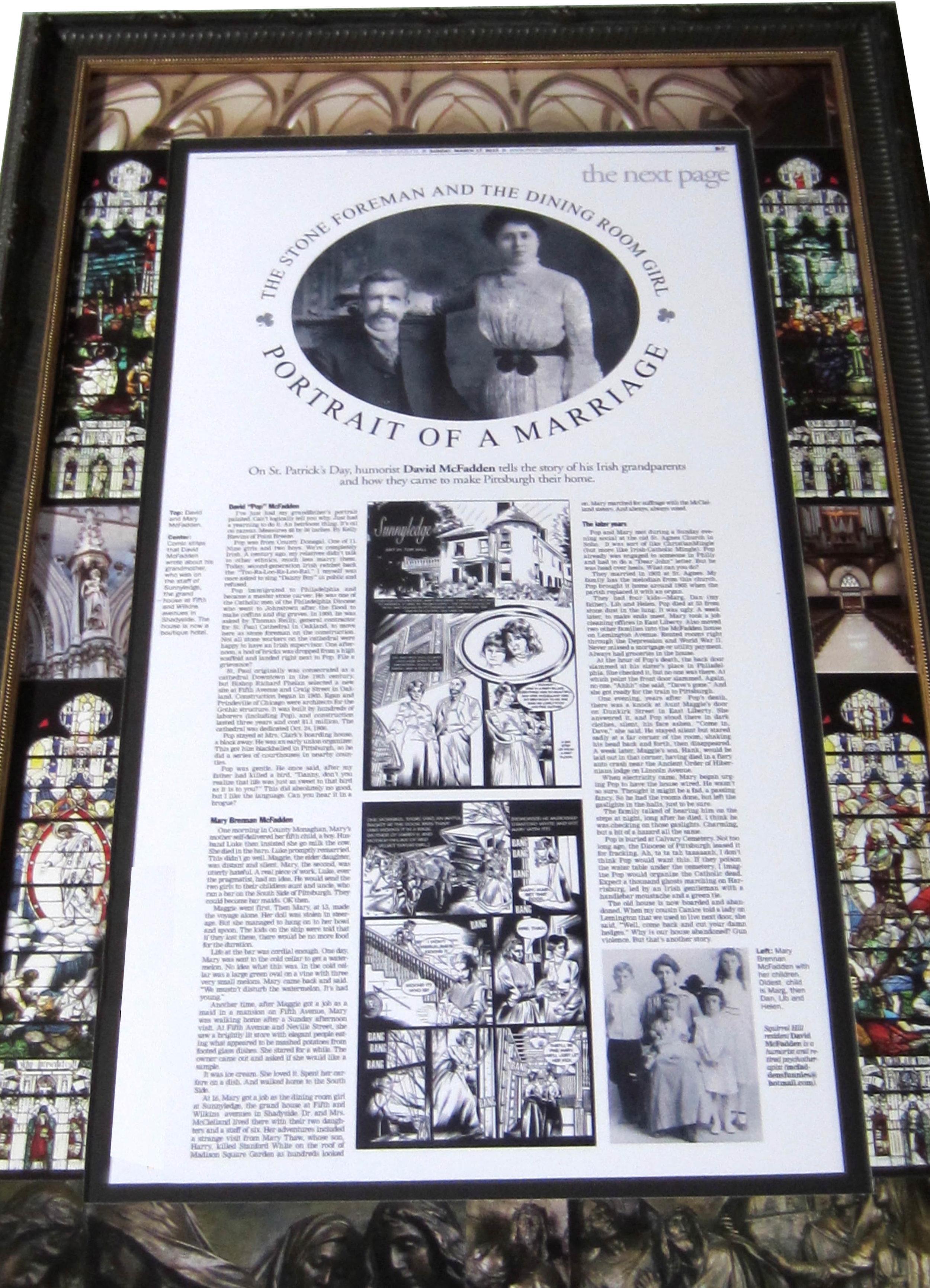 Framed article