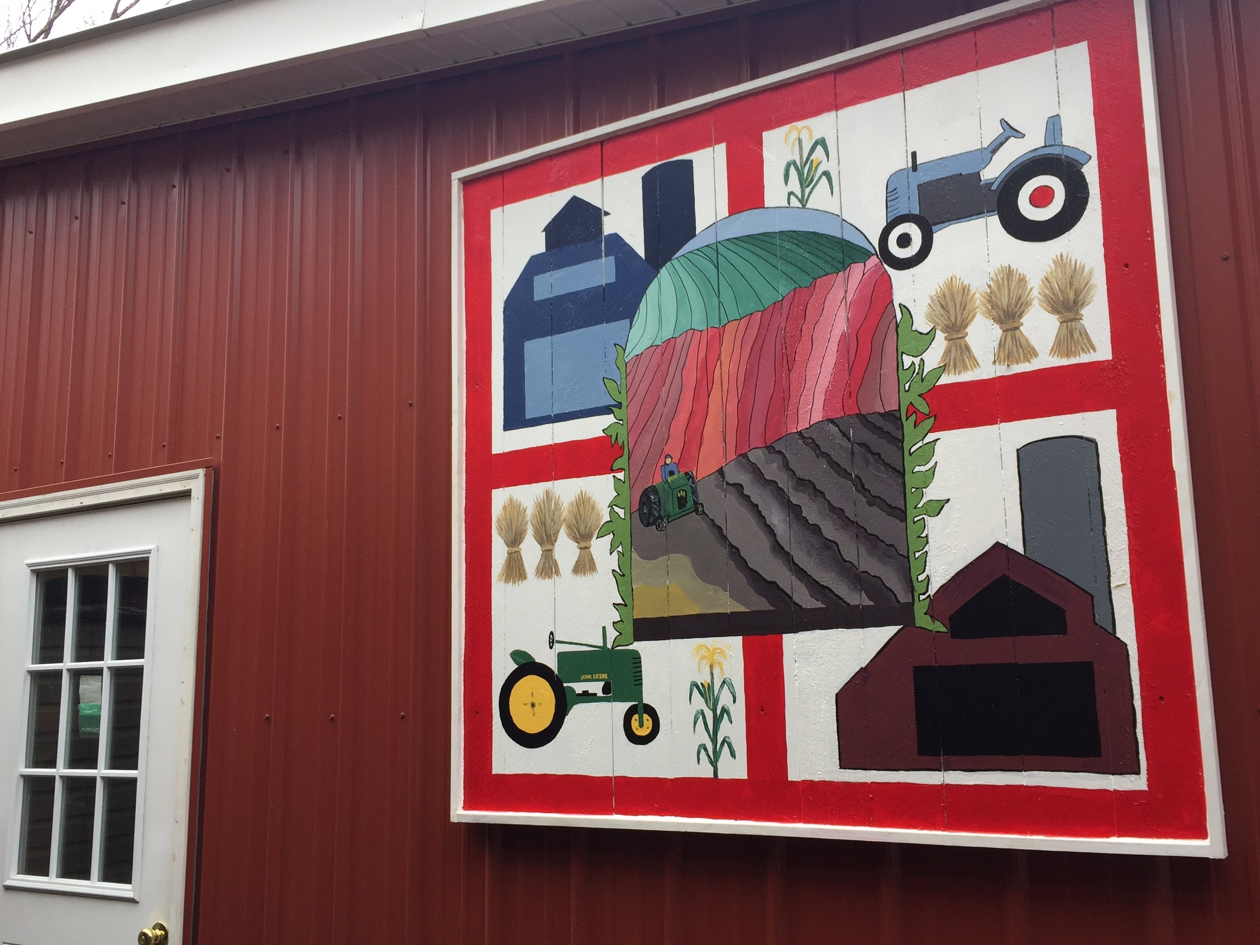 Our new Lord's Harvest barn quilt designed by dear friend Judi Davids