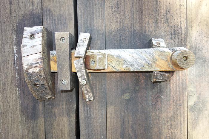 hand made barn door latch