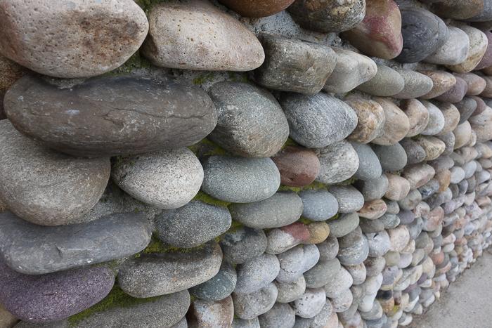 Rowayton, CT, stone wall