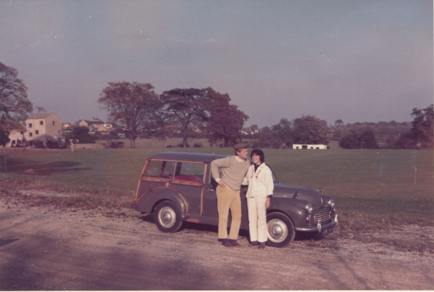 The Piersons and their Morris 1000 Traveller at St. John's
