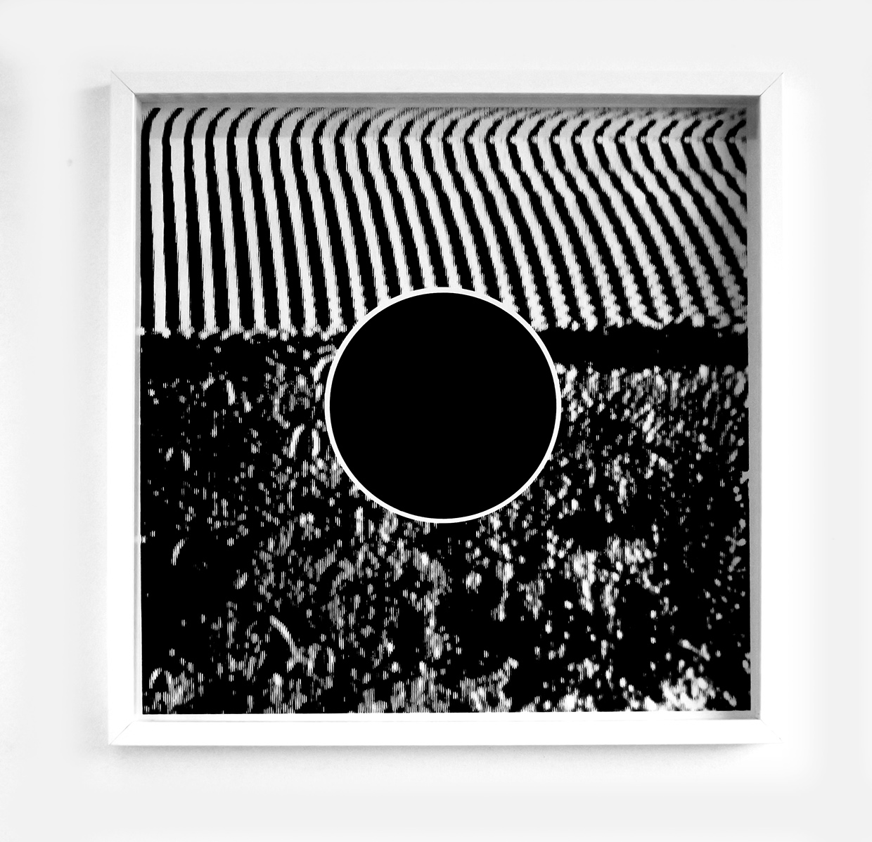 black fields no.2: layer screen-print on southbank smooth 310gsm cut edge paper 50cm X 50cm framed -  £155