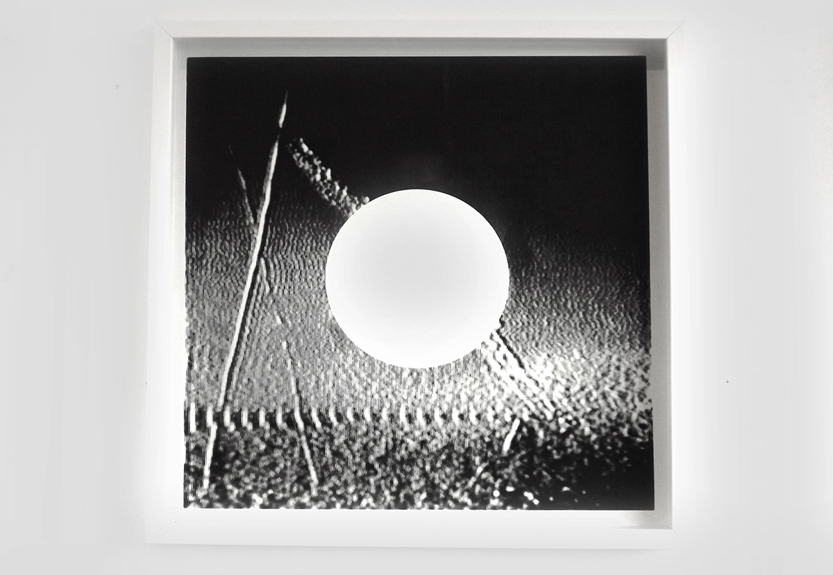 white fields no. 1 : layer screen-print on southbank smooth 310gsm cut edge paper 50cm X 50cm framed - £155