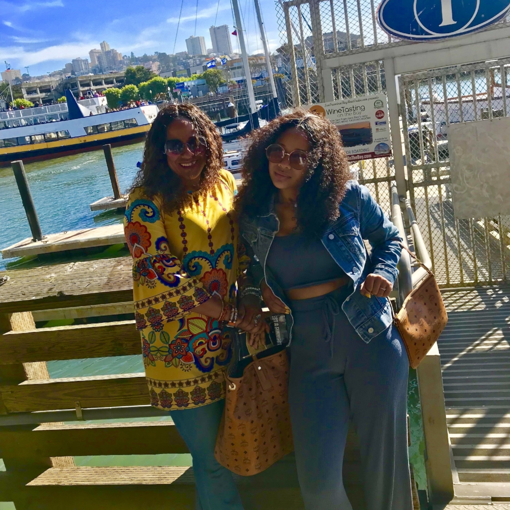 Kimberly and her daughter on a trip to San Francisco with their MCM bags from Perpay!