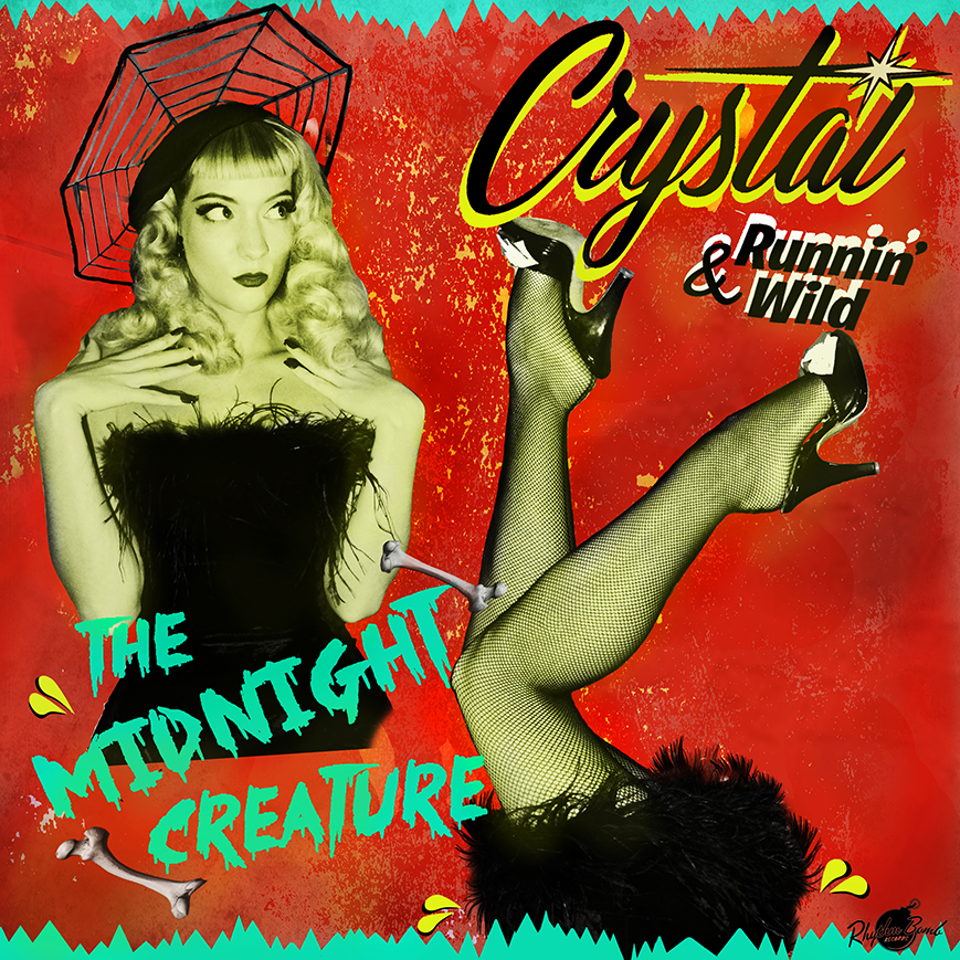 """<p><strong>CRYSTAL & RUNNIN' WILD</strong>CD """"The Midnight Creature""""<br> Rhythm Bomb<a>2018</a></p>"""