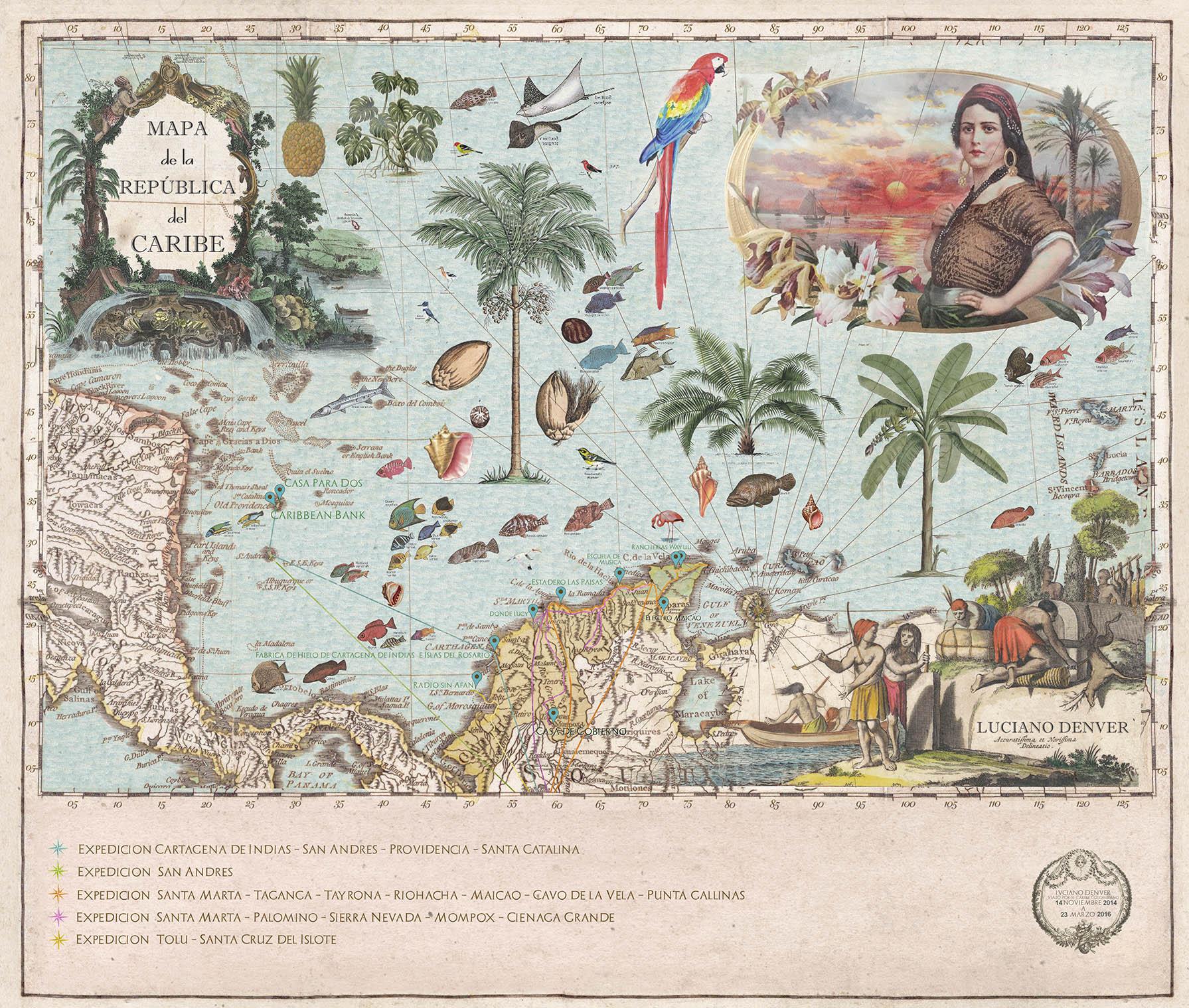 Mapa de la República del Caribe, 2016