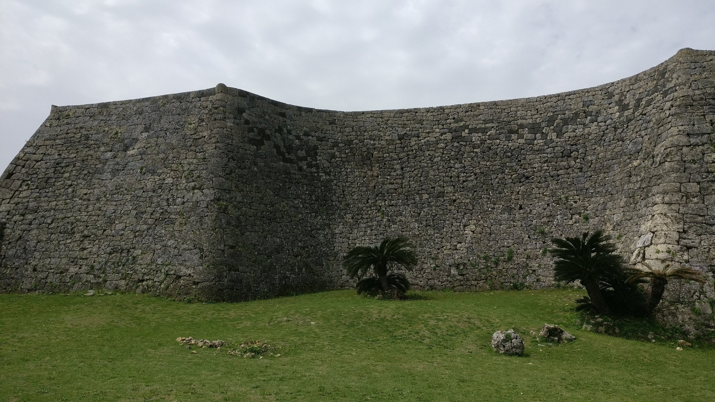 A formidable wall from the remnance of Nakagusuku Castle