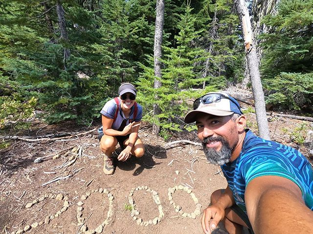 Oregon, over the last few days you swarmed us with mosquitos, chased us around with two storms, and we walked for miles on lava rocks, yet we still made it to the 2000 mile mark. #pct2019 #pctclassof2019 #optoutside #rei1440project #withguthook #threesisterswilderness #oregon #getoutstayout #getoutside