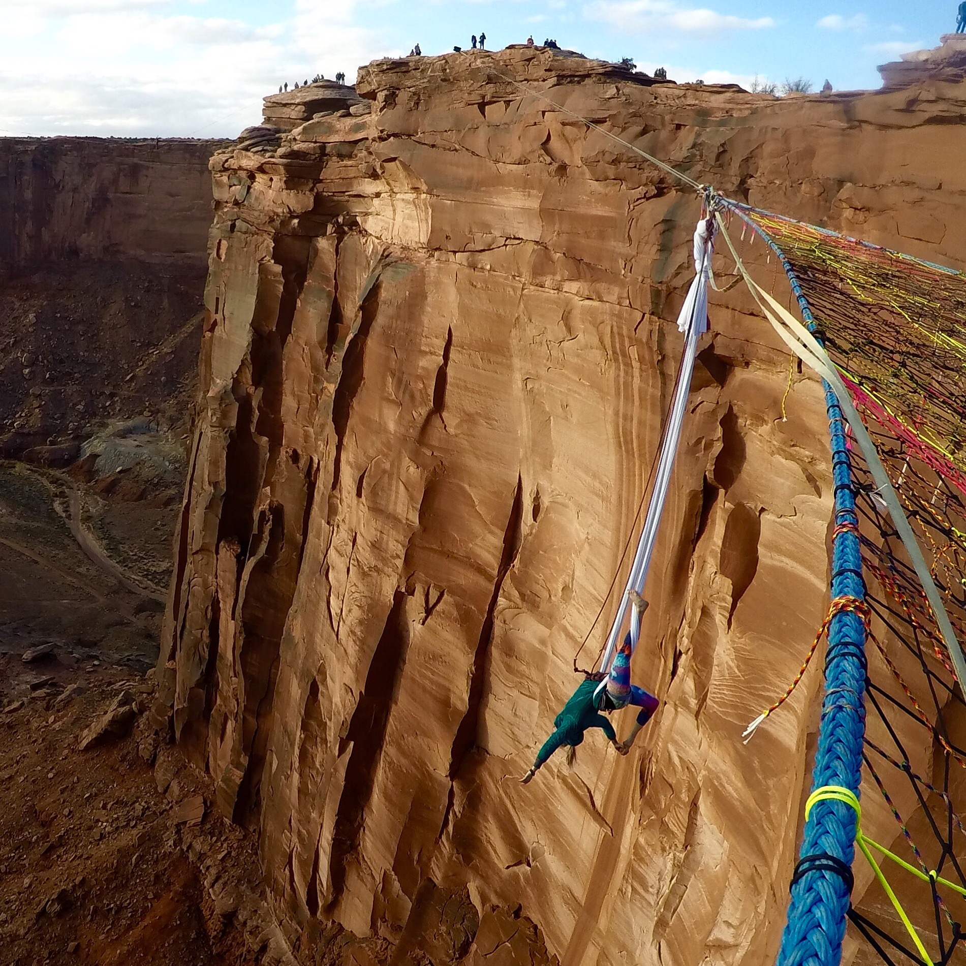 Aerial Silk in Moab