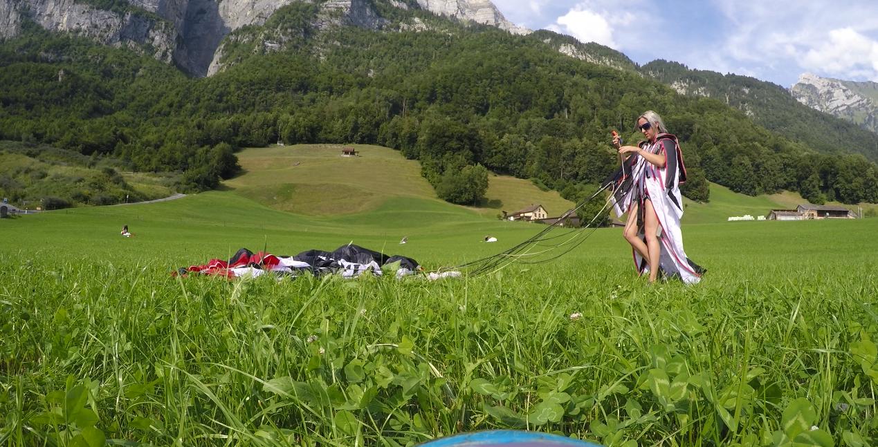 Swiss fields of green
