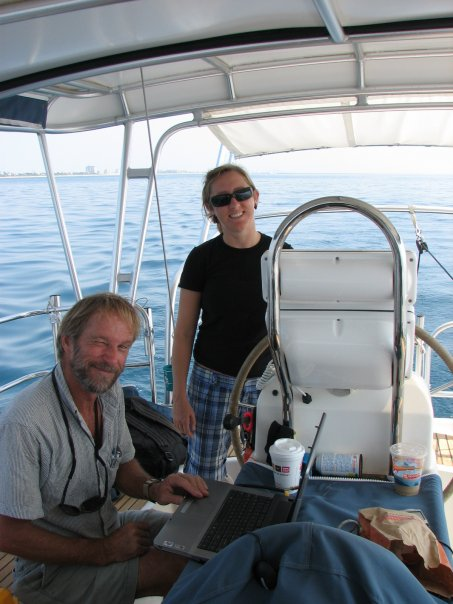 Testing small side scan sonar arrays off the coast of Florida