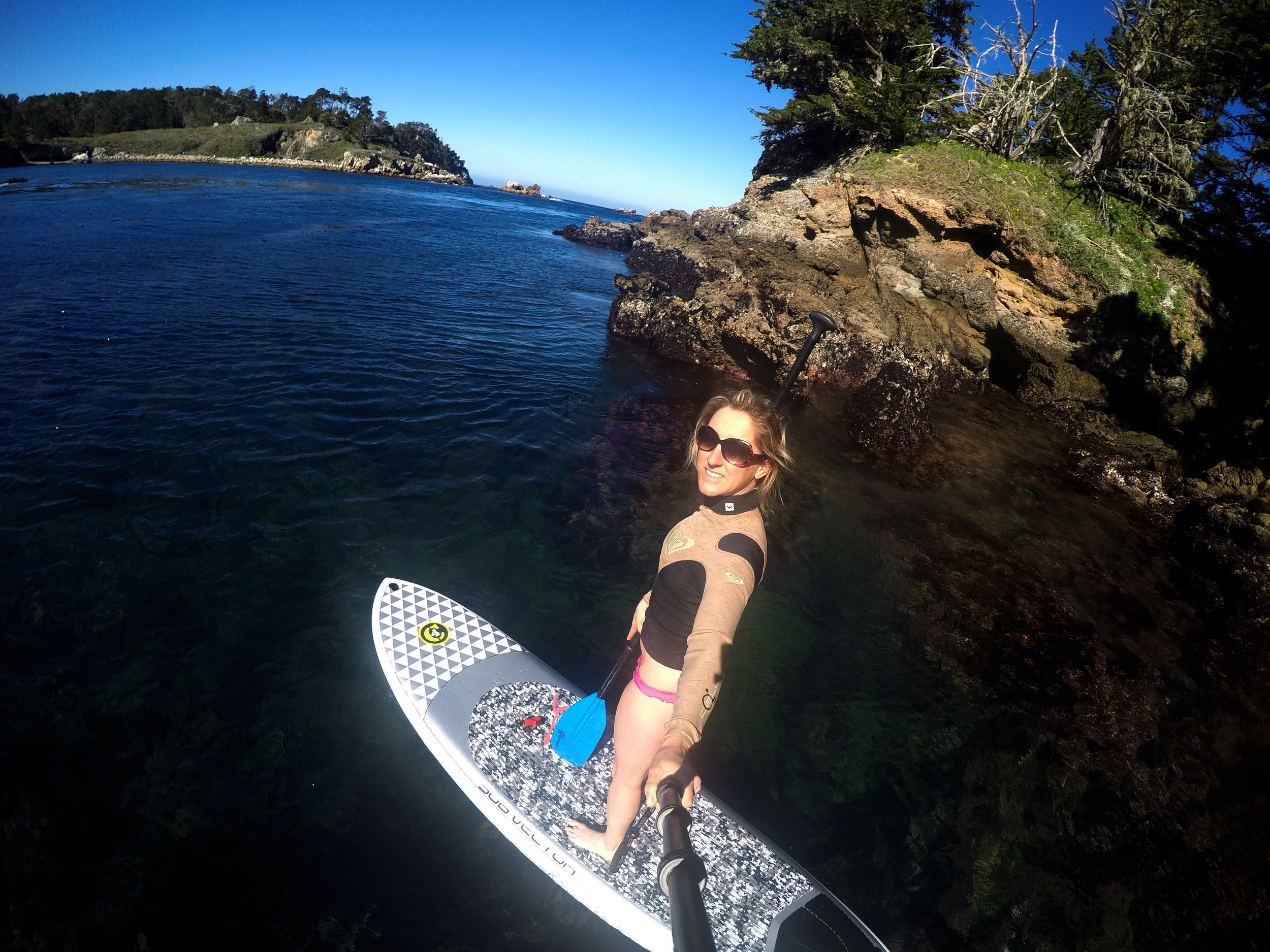 Stand up paddle boarding near Monterey California