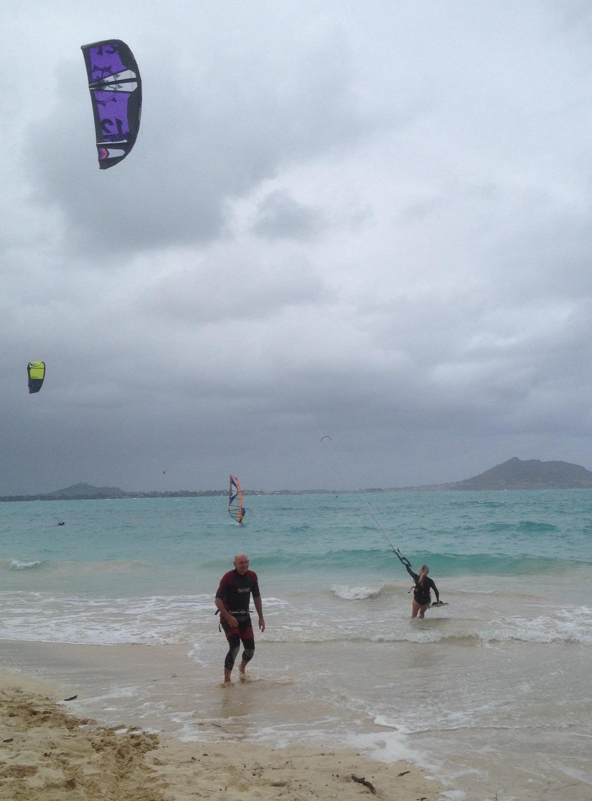 Kite surfing in Hawaii