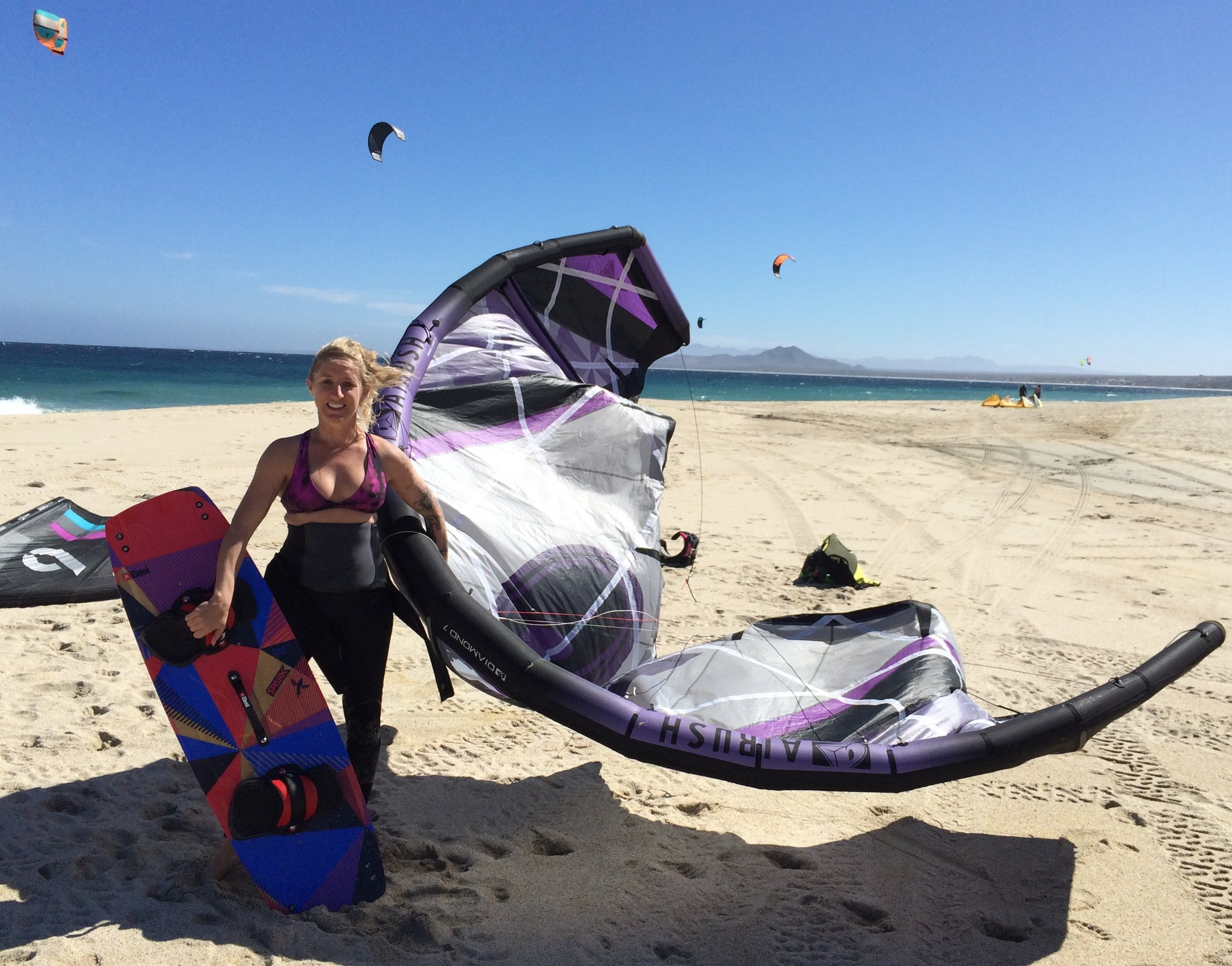 Kite surfing in Los Barriles, Baja, Mexico