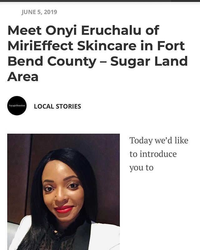 Thank you to @voyagehouston for the feature!  To read the full article, click the link in the bio.  #MiriEffectSkincare  #RadiantSkinFromWithin #TheMiriEffect