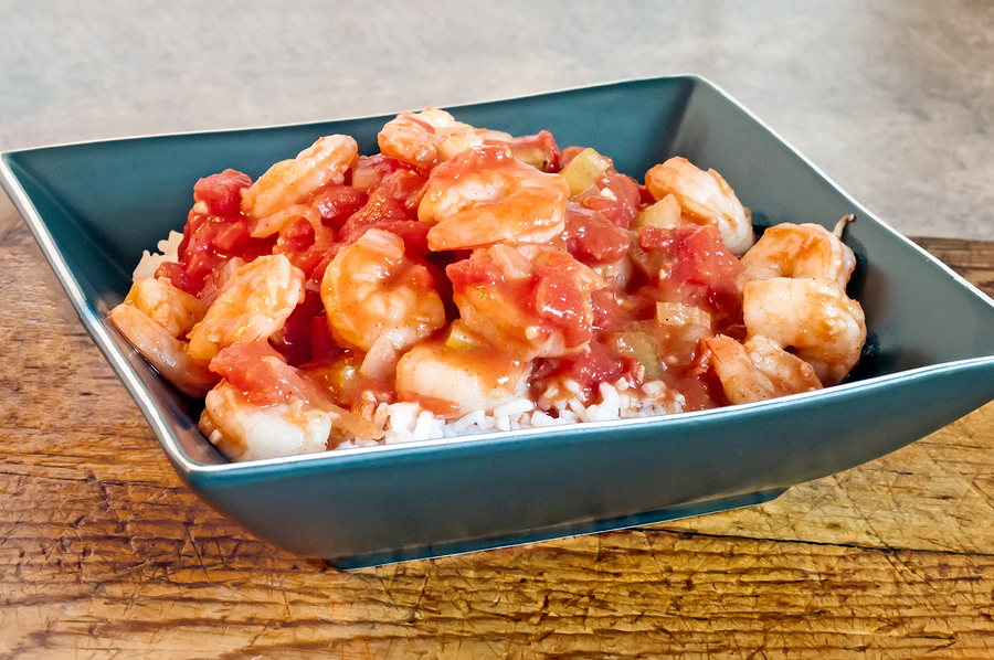 Shrimp Creole and Ricce