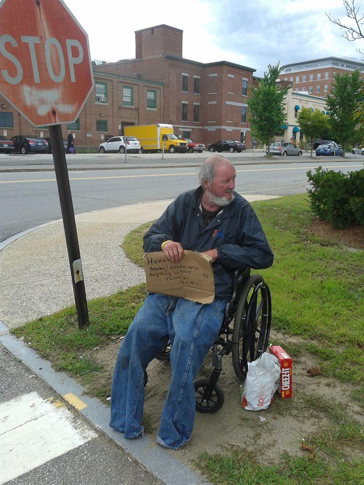 Gene Parker on Storrs Street in Concord, N.H.