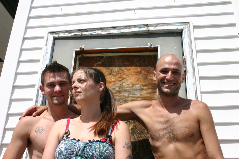 """""""We look out for each other,"""" Ovi Charast (right) says. That night before he and three friends had all slept on the floor of one room at the PK Motel."""