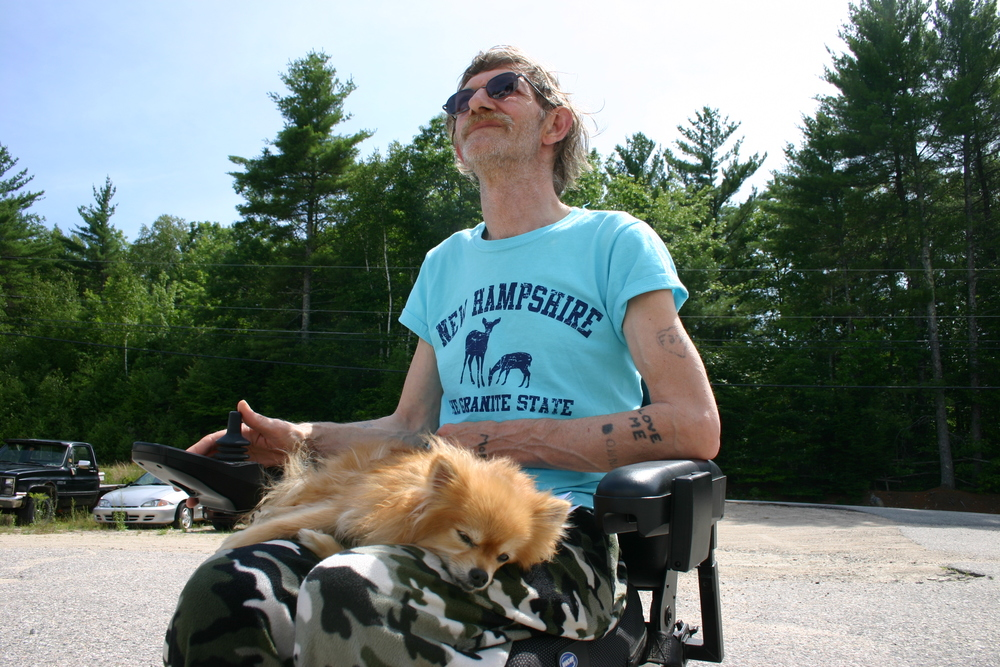 """""""They call me Papa,"""" Mark Leathers says about his 22 grandchildren. He says he and his wife came to the area from Maine to be closer to some of those grandkids."""