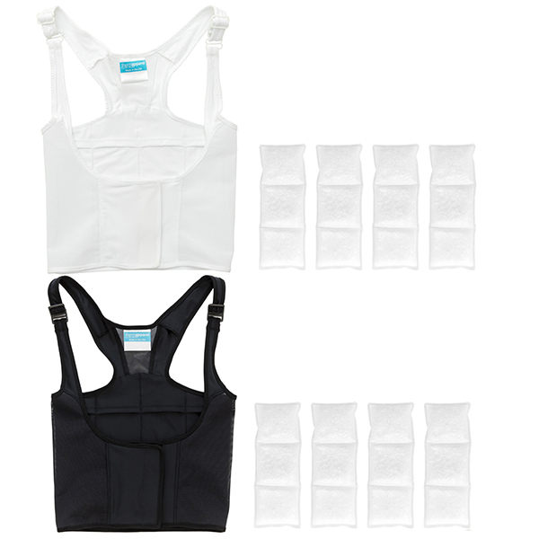 UnderCool Cooling Vests by ThermApparel are available in Black and White.