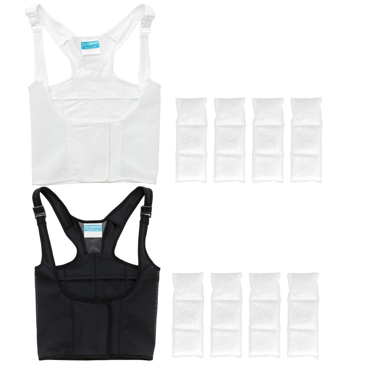 UnderCool Safari Bundle, 1 black UnderCool, 1 white UnderCool, 2 sets of cooling packs (8 total)