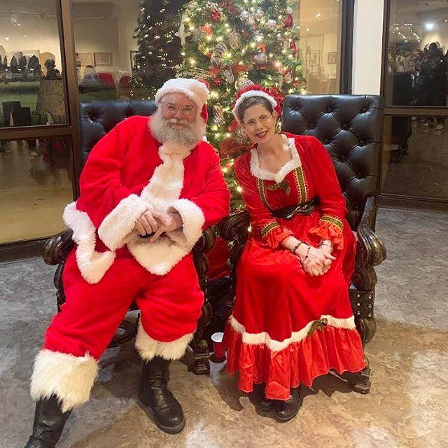 Rita as Mrs. Claus and her husband as Santa. Rita is wearing her UnderCool!