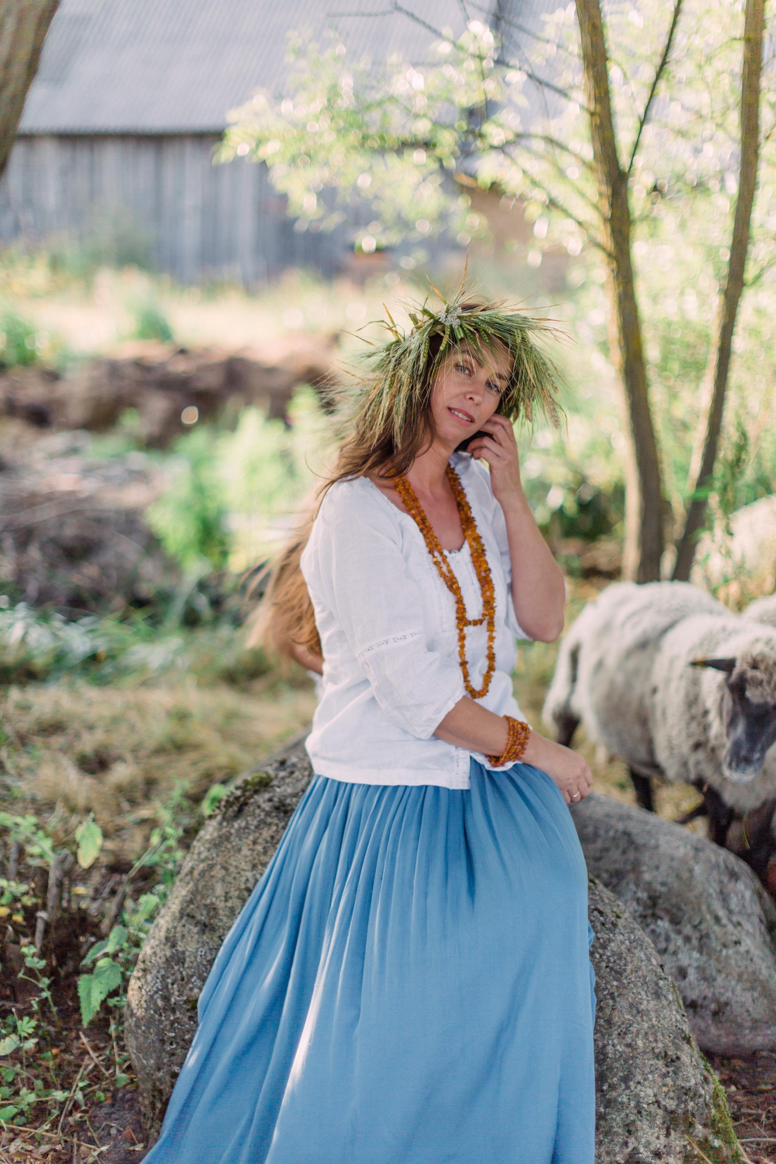 Vitalija Birbaliene - Farm Editorial Photo Session_Fine Art Photography_Lithuania_London_UK_2018_Joana Senkute Photography