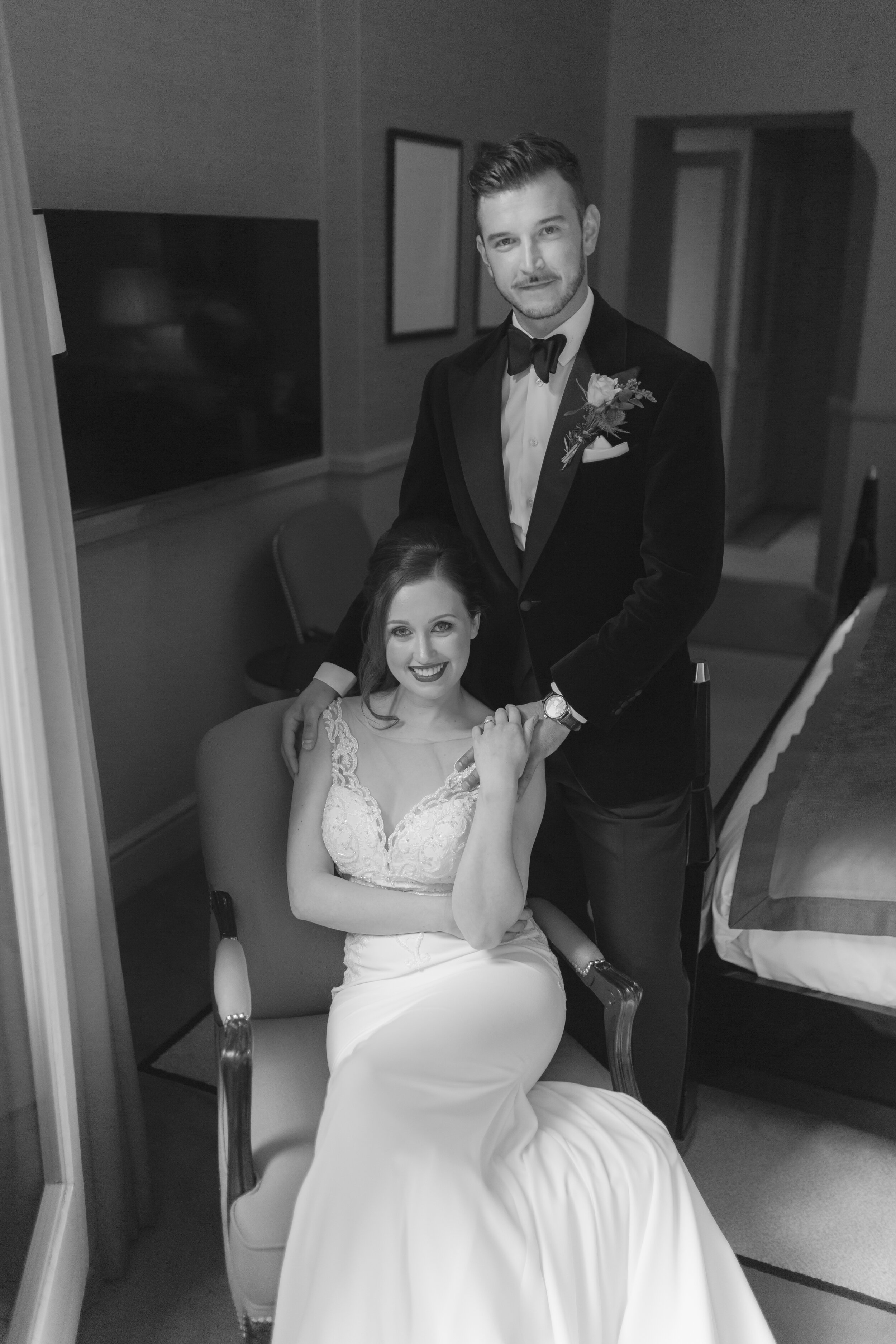 Lucy Scarfe & Luca Santoria Trenti - Intimate Wedding_St James and Club Hotel_Mayfair_London_Joana Senkute Photography