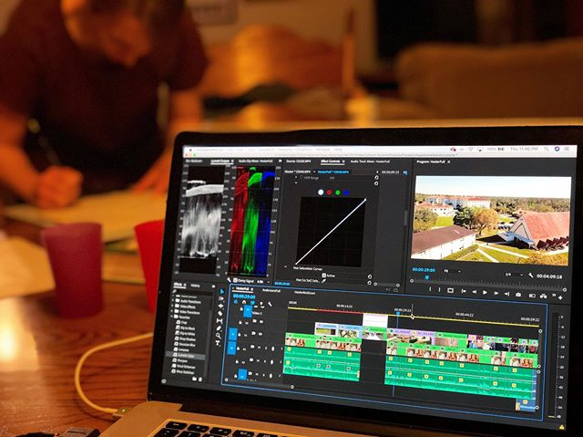 Another late #editing night and thankful to have @karendehut being creative nearby to keep me going. Can't wait to share these stories soon! . . . . #video #videoproduction #behindthescenes #videoediting #postproduction #media #premierepro #floridacollege @floridacollege #freelance