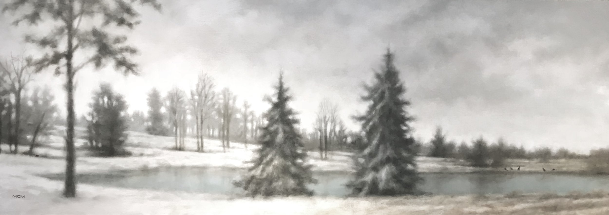 "FOUR SEASONS : WINTER  30'""h x 84""w"