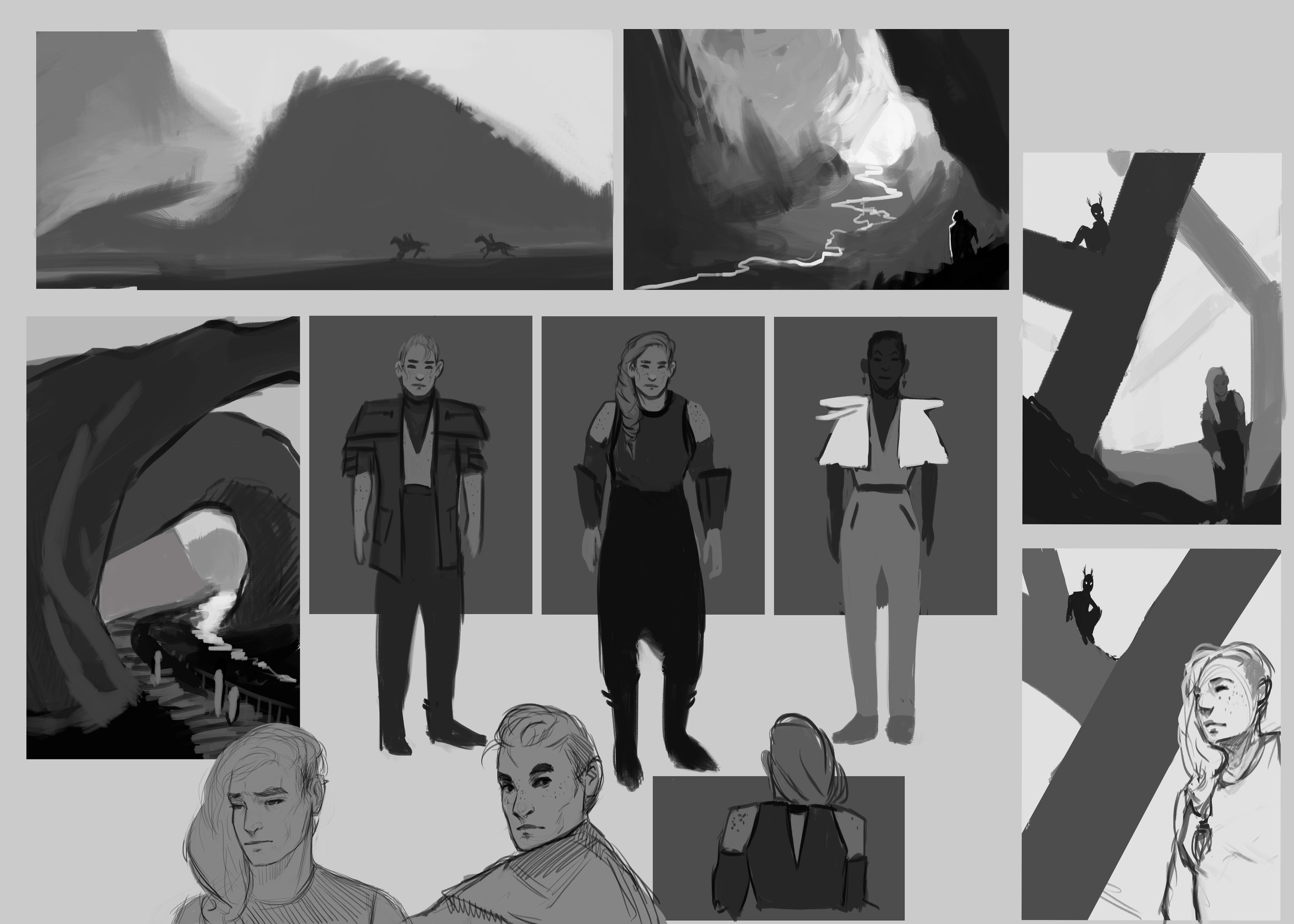 Landscape development and character sketches
