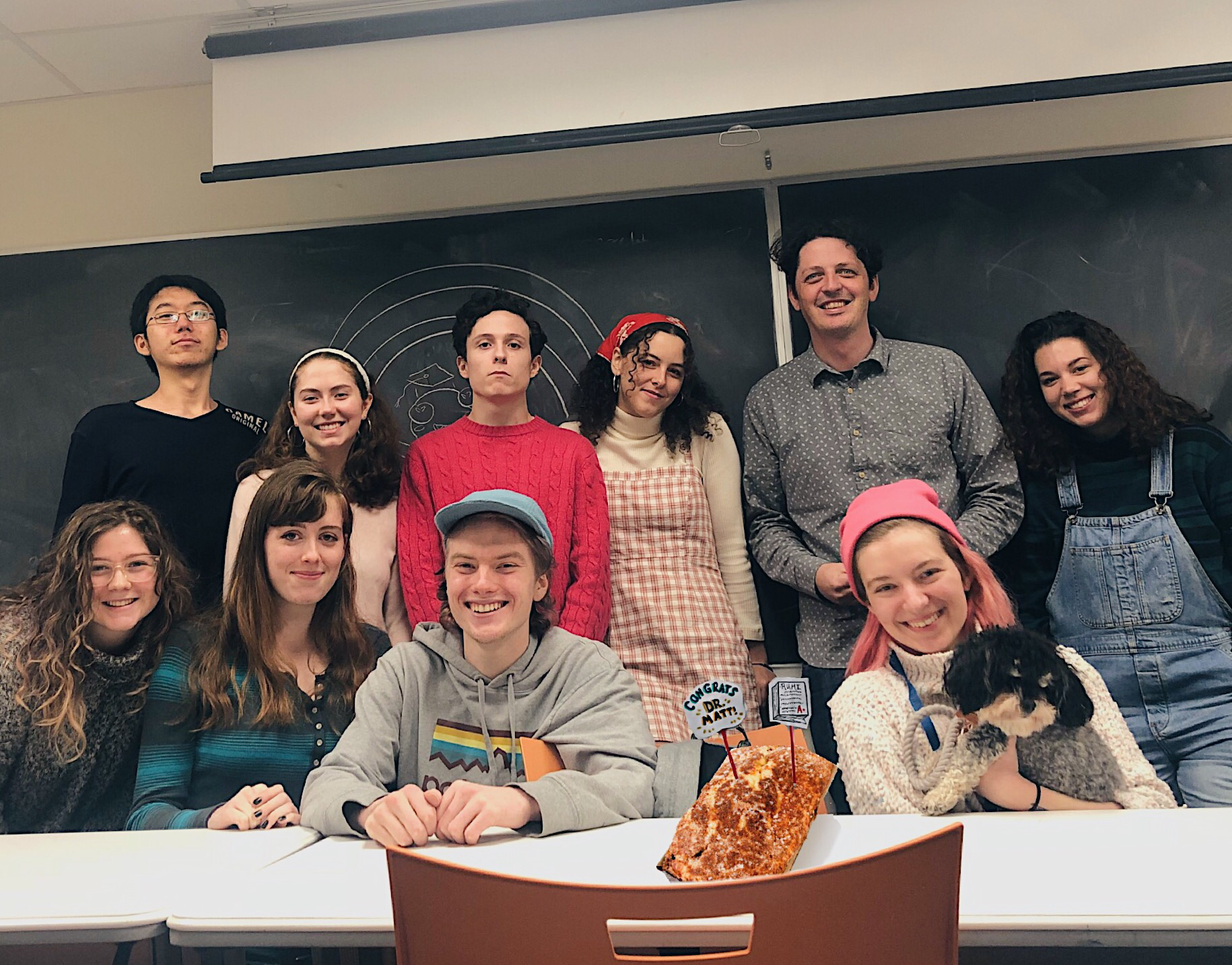 "From the ""First Year Seminar"" course, Bard College, Fall of 2018. I am second from right, back row."