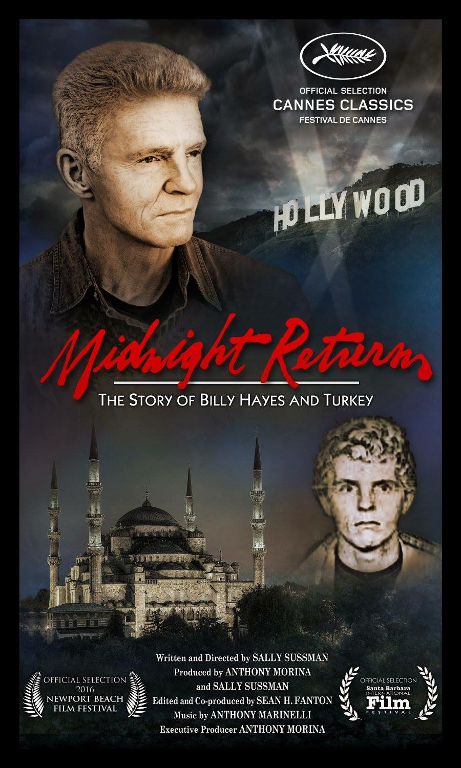 """Feature documentary entitled """"Midnight Return,"""" which we sound designed and mixed will have it's world premiere at the Cannes Film Festival in May. It was written and directed by Sally Sussman and edited by Sean Fanton. The doc explores the enduring and emotional power of film as seen through the lens of the blockbuster success, """"Midnight Express."""" It stars Billy Hayes as himself."""
