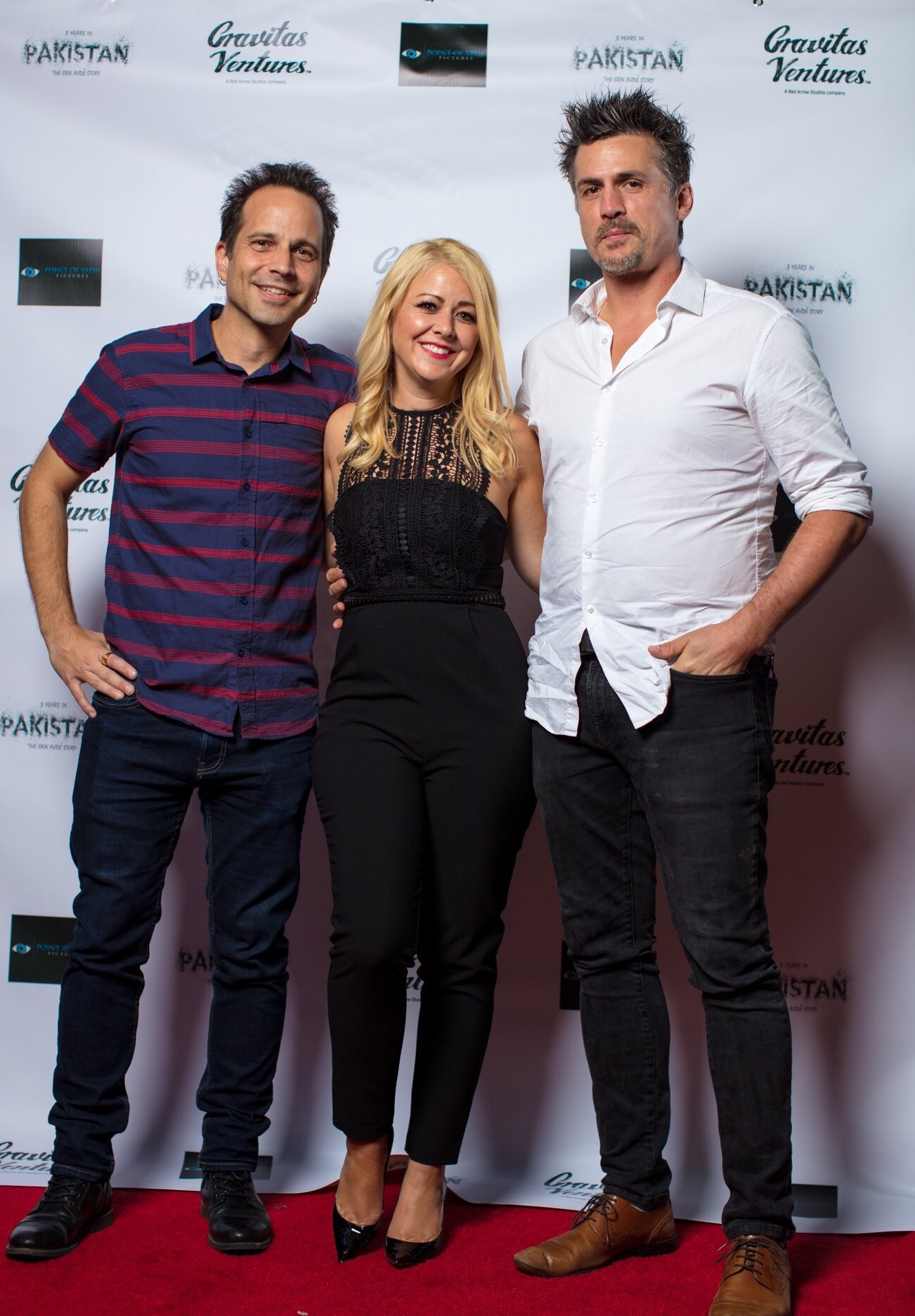 At the premiere of 3 Years In Pakistan: The Erik Aude Story with director Jamielyn Lippman and composer Stephen Light