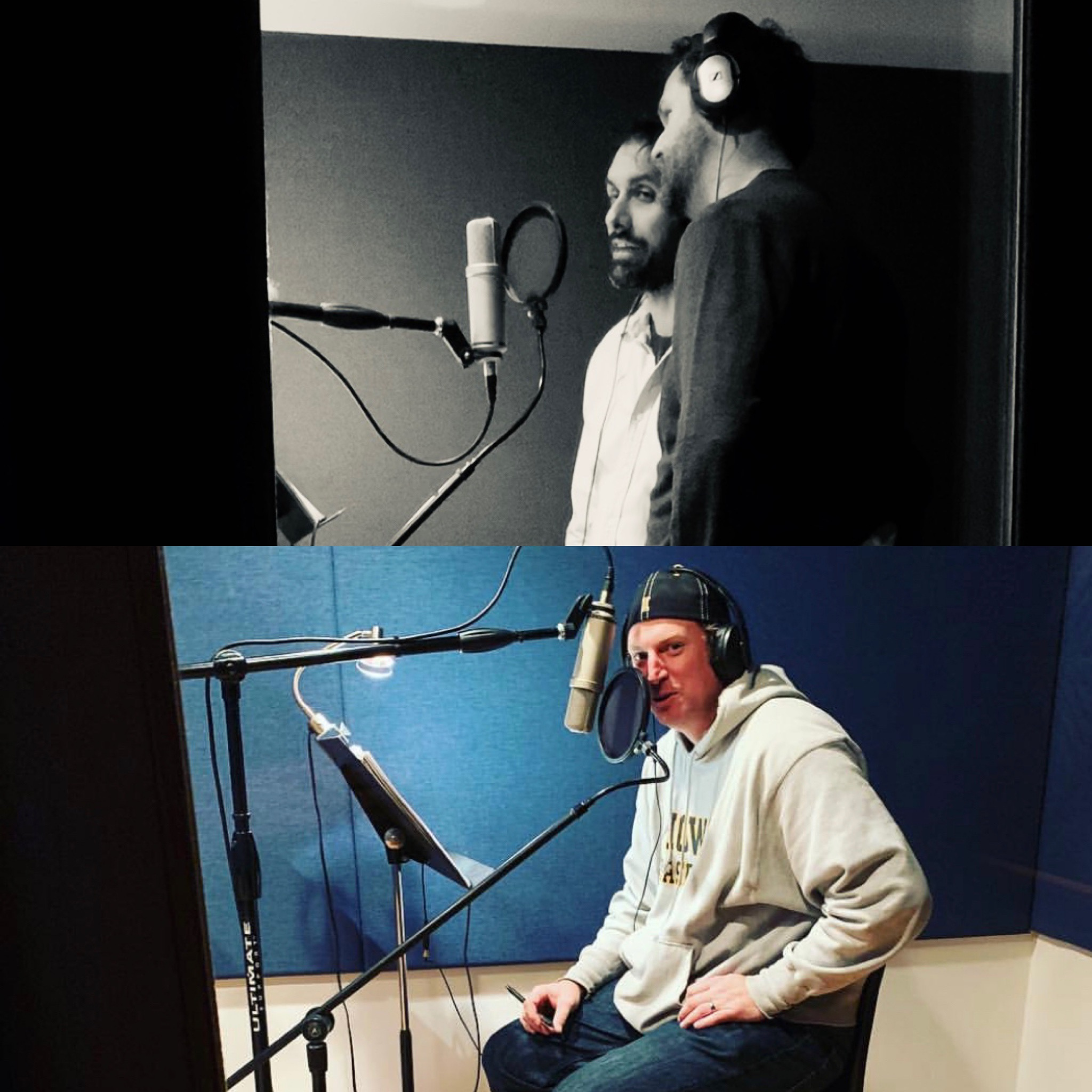 "Pics from ""The Climb"" and ""The Dudes Brewing Co"" ADR/VO sessions"