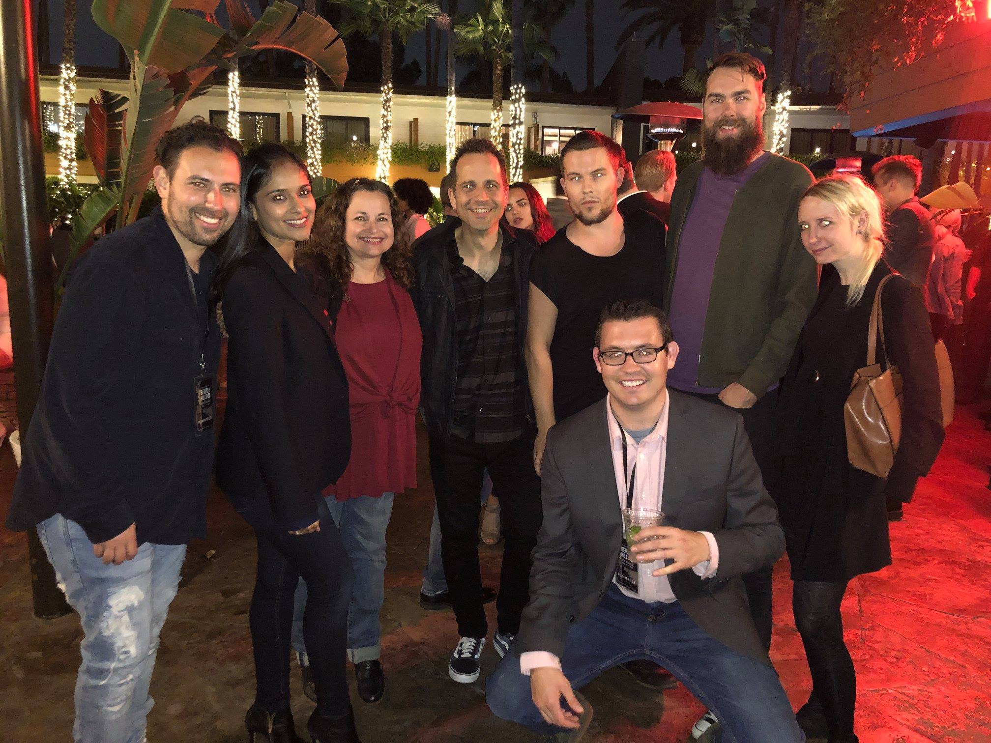 """Beverly Hill film Festival after party with some of the cast and crew of """"Waiting Game"""""""