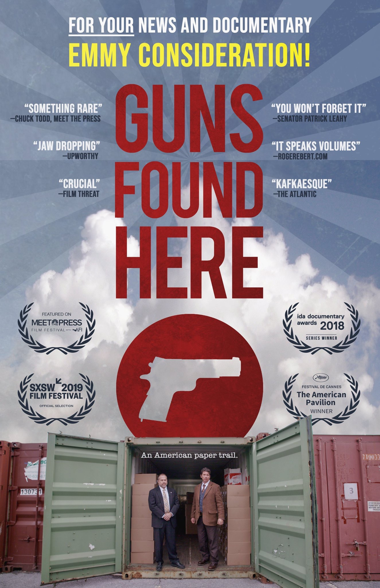 """""""Guns Found Here"""" gets nominated for an Emmy!"""