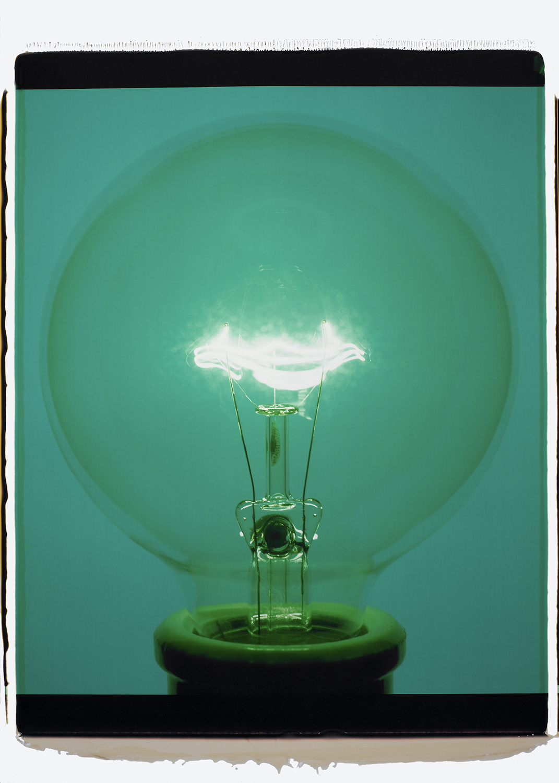 """""""Light Bulb 14341, 2007,"""" Color Polaroid."""