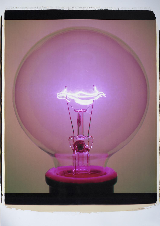 """""""Light Bulb 017PPa, 2007 (G6),"""" Color Polaroid."""