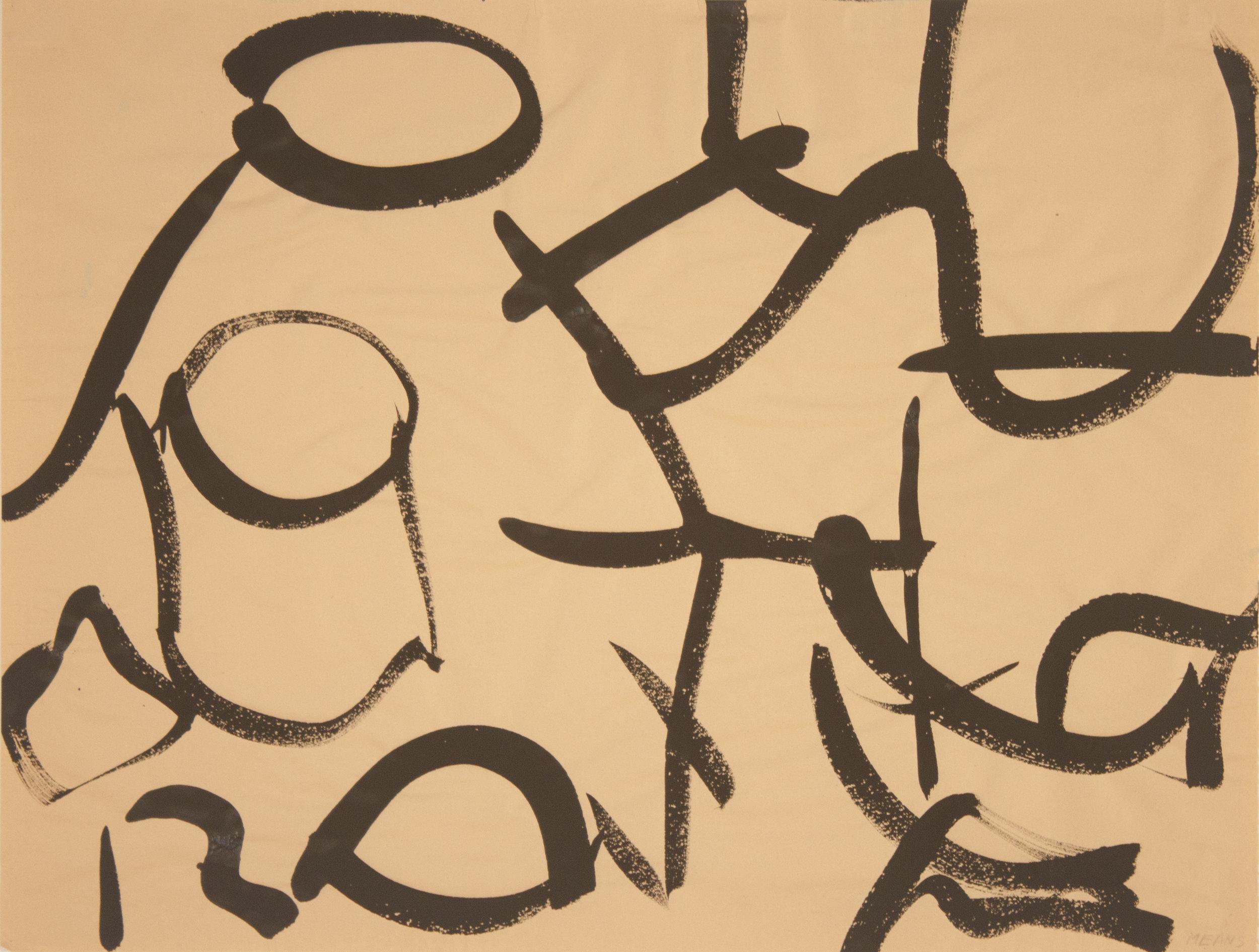 Brush Drawing 1, 1979