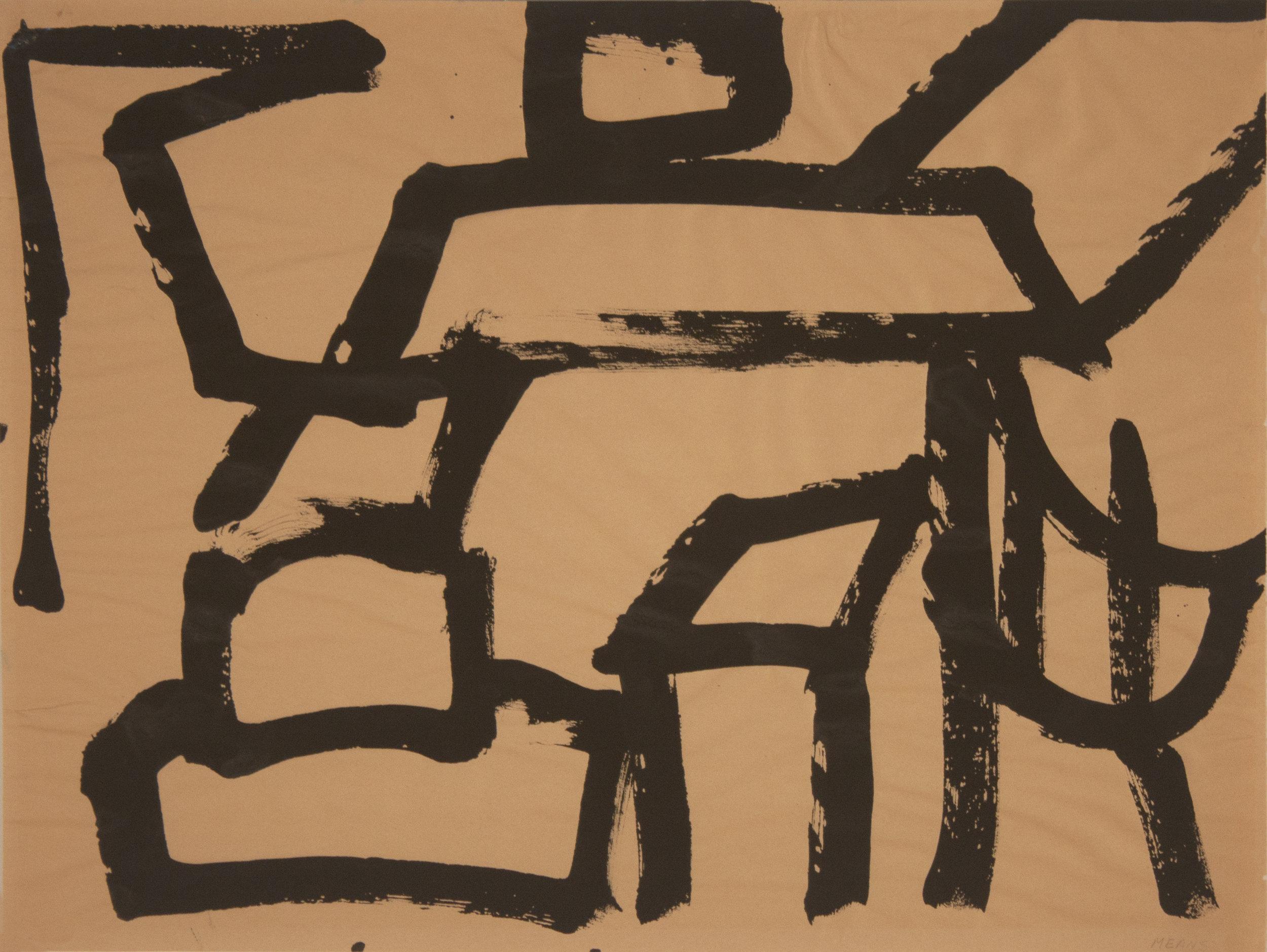 Brush Drawing 10, 1979