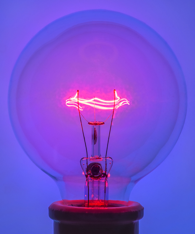 Light Bulb 1, 2018 Pigment Print
