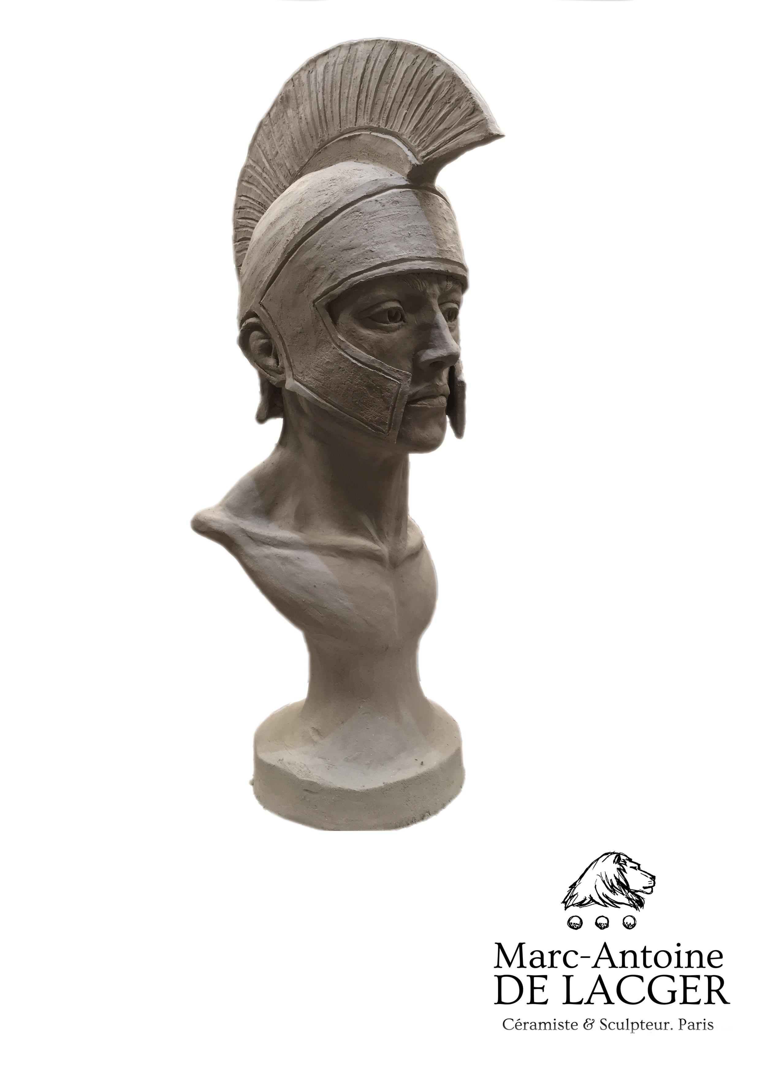 """""""Hoplite avant la bataille"""". Marc-Antoine de Lacger. Tous droits réservés."""