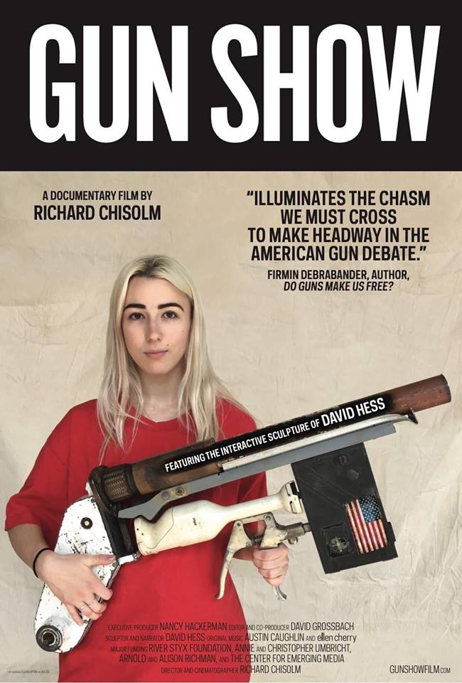 Poster for the  Gun Show  film, finished September 7th, 2018 by  Richard Chisolm