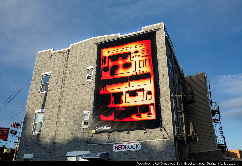 Accompanied Art Billboard project by  Kei Ito , installed in Brooklyn, NY