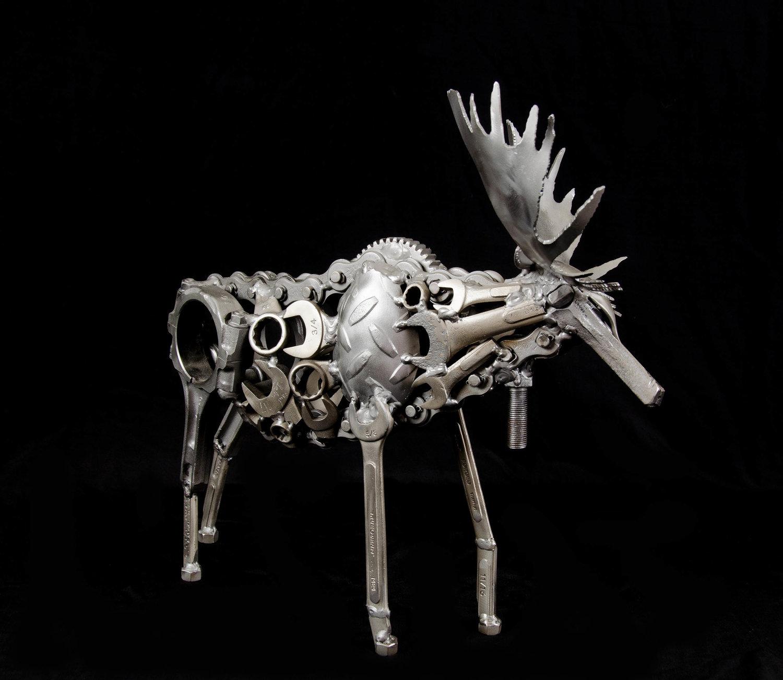 Paul Baker, Legacy Moose, 2016. Found metal.