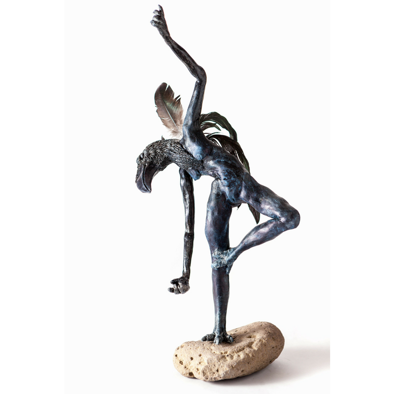 Donald Watt, Raven Lady on Rock, 2016. Mixed media. Image courtesy of Jake Paleczny.