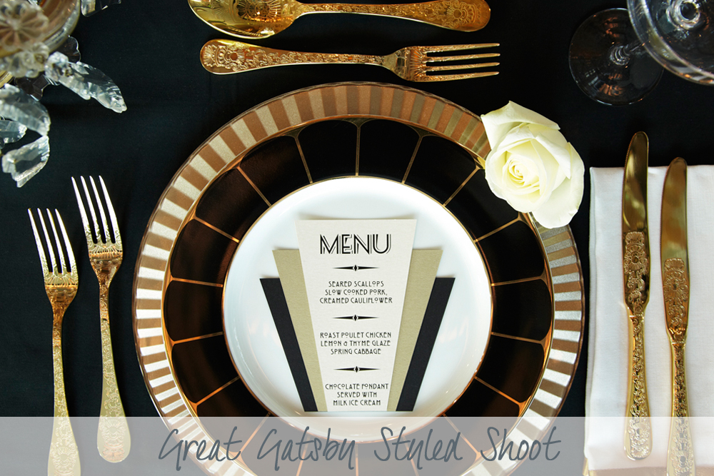 Great Gatsby Styled Shoot | Wedding Inspiration