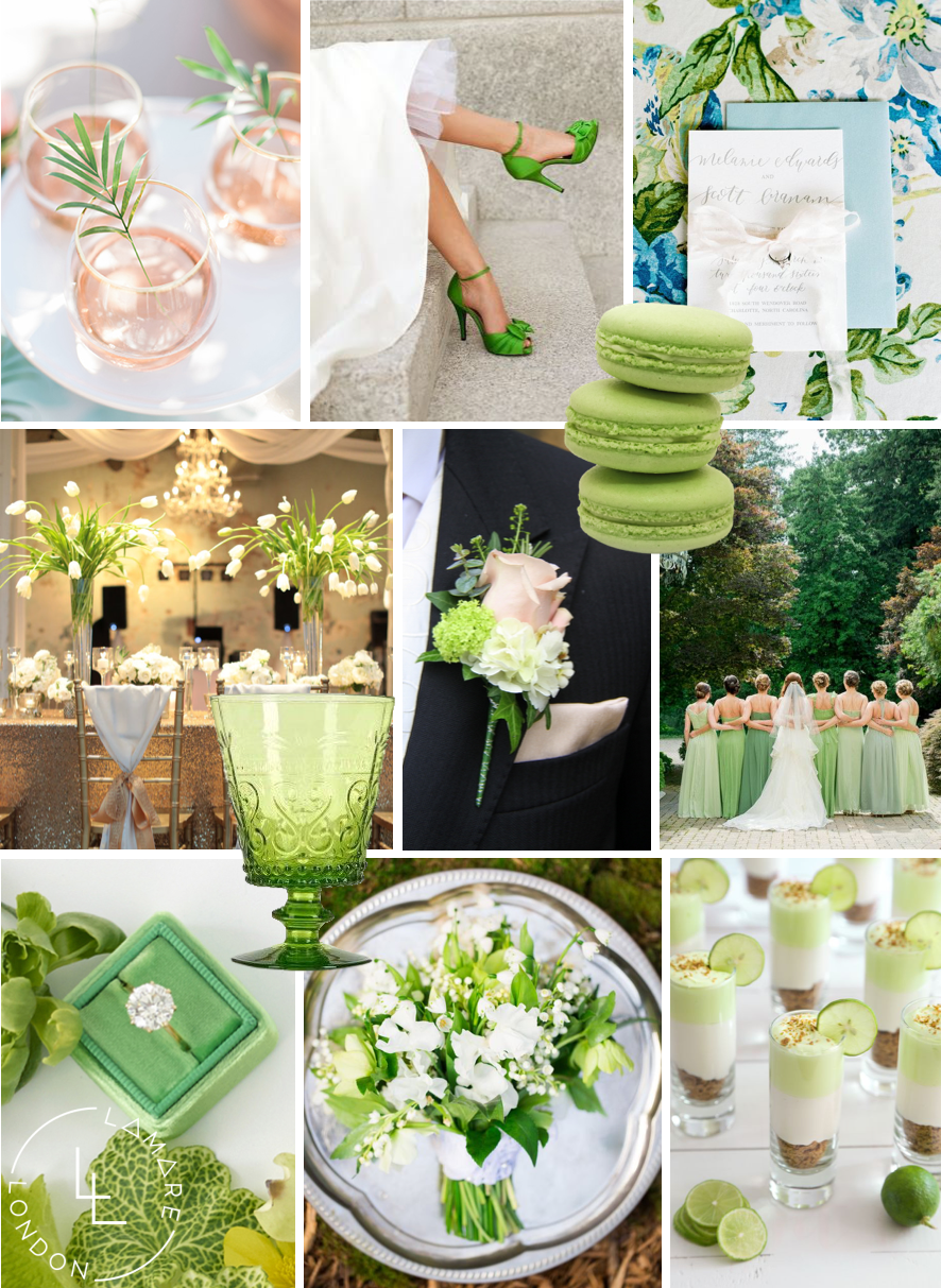 Pantone Color of the Year 2017 | Pantone Greenery Moodboard | Wedding Moodboard | Wedding Inspiration | Luxury Wedding Planner | Lamare Londo