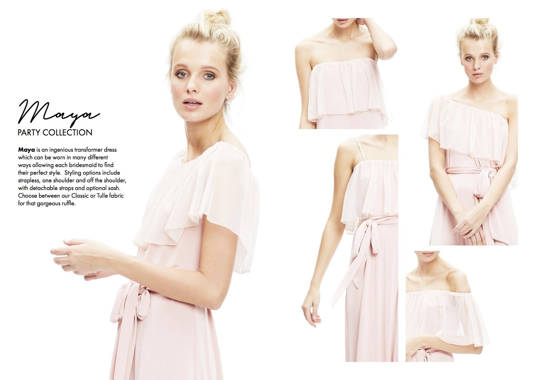 Maya | Twobirds bridesmaid | Party Collection | Bridesmaids dresses | Luxury wedding planner Lamare London